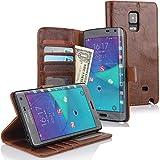 Cowhide Cuba Hülle für Samsung Galaxy Note Edge - Tasche Cover Case Etui Schutzhülle in Braun