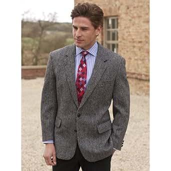 Brook Taverner - Veste de costume -  Homme Marron Tweed