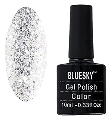 Bluesky Limited Edition Holiday Shade Aurora UV Gel Nail Polish, Silver Glitter 10 ml