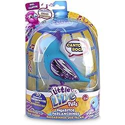 little live pets - Rockin' Ricky, pájaro con Cresta, Color Azul (Famosa 700012881B)