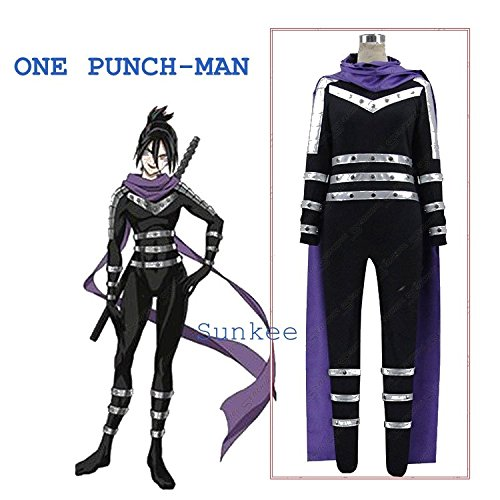 Sunkee One Punch Man Speed of Sound Sonic Uniform Cosplay Kostüm, Maßgeschneidert ( Bitte geben Sie uns Ihr Gewicht, Höhe, Breite, Brust, Taille und Hüfte) (XXL: 175-185cm, Sonic (Erwachsenen Kostüme Sonic)