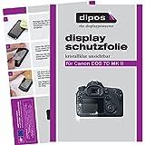 dipos I 6X Schutzfolie klar passend für Canon EOS 7D Mark II Folie Displayschutzfolie