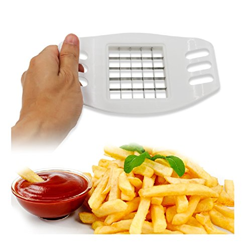 Premsons French Fries Cutter Potato Chips Stainless Steel Chopper Tool - White  available at amazon for Rs.199