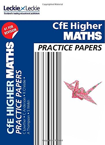 CFE Higher Maths Practice Papers for SQA Exams High-school-lehrplan
