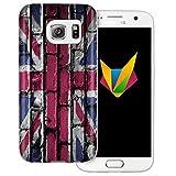 dessana England transparente Silikon TPU Schutzhülle 0,7mm dünne Handy Soft Case für Samsung Galaxy S7 England Flagge