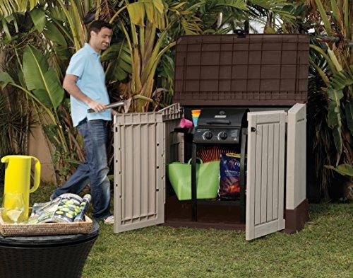 Keter 17197253 Aufbewahrungsbox Woodland, Kunststoff, Beige/Light Maroon - 4