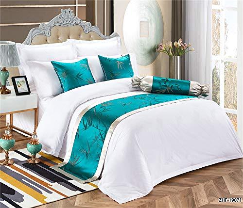 BED-RITA Bettläufer Schal Einfarbig Rock Jacke Dekorative Schlafzimmer Hotel Hochzeitszimme