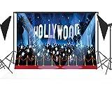 CapiSco Fotohintergrund Fotografie Stoffhintergrund Stoff Hintergrund Fotostudio Hollywood Scheinwerfer 2,1 * 1,5m TG03