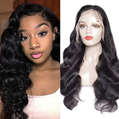 Maxine Peruvian Body Full Lace Human Hair Wigs for Black Women 180 Density Glueless 100% Unprocessed Virgin Human Hair Wigs With Baby Hair Pre Plucked 20 inch