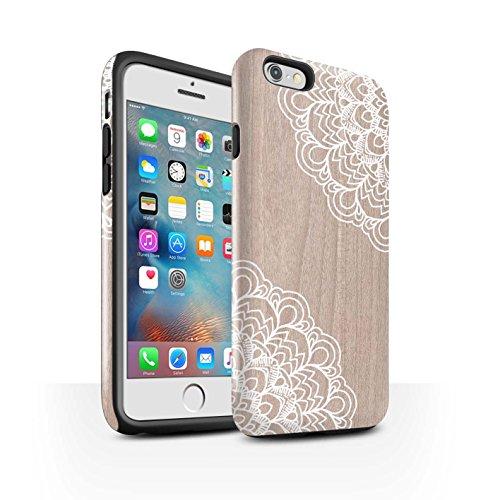 STUFF4 Glanz Harten Stoßfest Hülle / Case für Apple iPhone 6S+/Plus / Schönheit Muster / Fein Spitzenborte Holz Kollektion Ahornholz