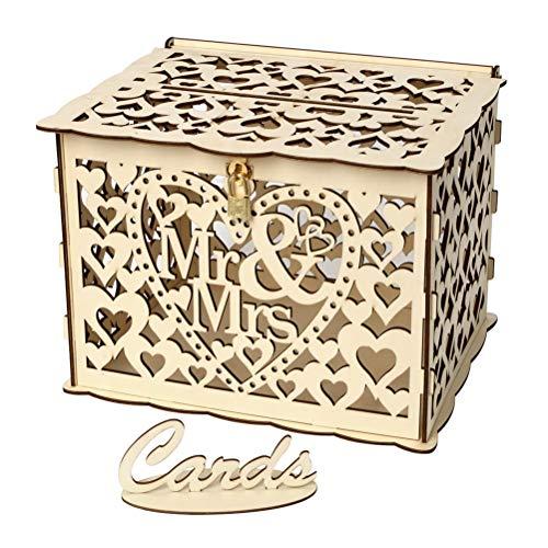 Kartenbox Hochzeit Glas.Hochzeit Karte Box Holz Top Angebote Schnappchen