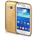 Samsung Galaxy Ace 3 Hülle Silikon Gold [OneFlow Brushed