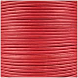 Jewellery of Lords 5 meters of Red 2mm High Quality Round Cord Real Leather String Lace Thong Jewellery Making