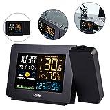 HEDDK Réveil à Projection écran LCD Station Météo Hygromètre, Tempmètre Snooze...