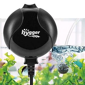 hygger Aquarium Air Pump, Ultra Silent <33dB Fish Tank Air Pump, 1.5W 420 ml/min High Energy Saving Air Pump with Air…