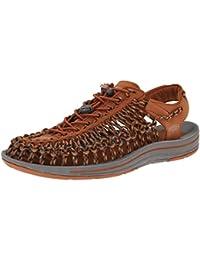 Dilize - Zapatos de cordones para hombre, color blanco, talla 40 EU