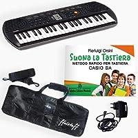 """Kit Pianola Tastiera Casio SA 77, Alimentatore Casio, Borsa ffalstaff, Metodo""""Suona la Tastiera"""""""