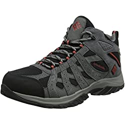 Columbia Canyon Point Mid Waterproof, Chaussures de Randonnée Hautes Homme, Noir (Black, Gypsy), 43 EU