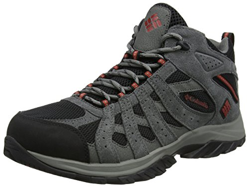 Columbia Canyon Point Mid Waterproof, Scarpe da Trekking da Uomo Impermeabili, Nero (Black/Gypsy), 44.5 EU