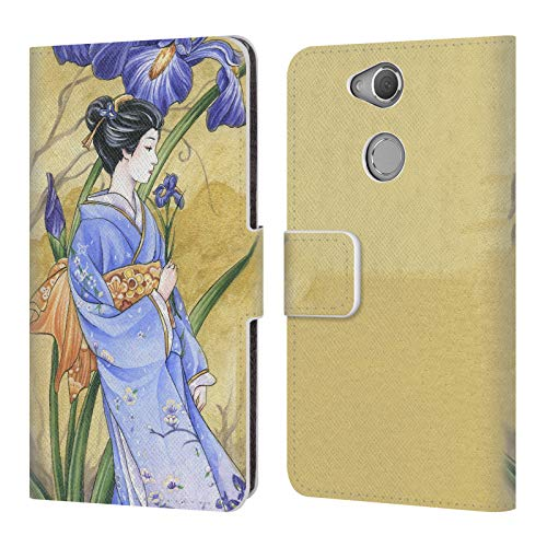 Head Case Designs Offizielle Meredith Dillman Iris Kimono Fantasy 2 Leder Brieftaschen Huelle kompatibel mit Sony Xperia XA2 -