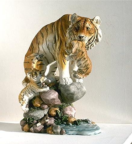 Tiger Katze Tigerfigur Baby Tierfigur Skulptur Deko Tier Figur Statue