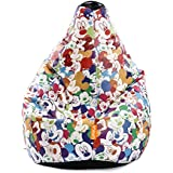 "Orka Disney ""Mickey Mouse"" Digital Printed Bean Bag Small Filled With Beans - Multicolor"