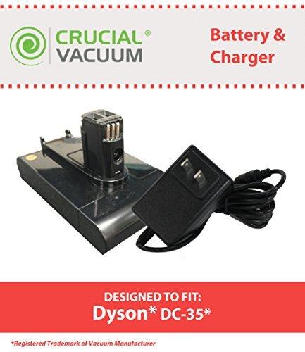 Crucial Vacuum Dyson DC31& DC35Akku & Ladegerät, 22,2V Li-Ion 1500mAh, Teil # 917083–01, 917530–01, 917530–02& 17530–02