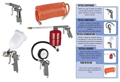 Kit di accessori per compressore 5 pz attacco rapido Hyundai - 65605