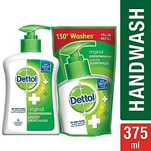 Dettol Liquid Handwash (Original) - 200 ml with Free Liquid Handwash - 175 ml (Any Variant)