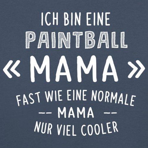 Ich bin eine Paintball Mama - Damen T-Shirt - 14 Farben Navy