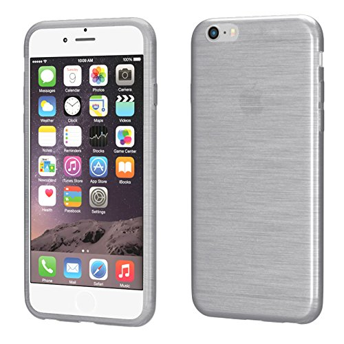 "Apple iPhone 5C Hülle, EAZY CASE Ultra Slim Cover ""Clear"" - Premium Handyhülle Transparente Schutzhülle, Smartphone Case in Transparent Brushed Hellgrau"