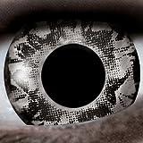 Schwarz / Splash 12-Monatslinsen UV Linsen Crazy Kontaktlinsen Leuchten im Schwarzlicht!