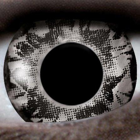 Schwarz / Splash 12-Monatslinsen UV Linsen Crazy Kontaktlinsen Leuchten im Schwarzlicht! (Emo-nerd)