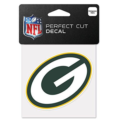 Wincraft Green Bay Packers Offizielles NFL 10,2x 10,2cm Aufkleber (Schnitt Bay)