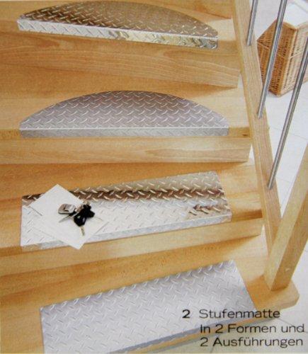Treppenstufe-SET ALU, 60x18 cm, eckig, mattiert (15 Stück = 1 VE)