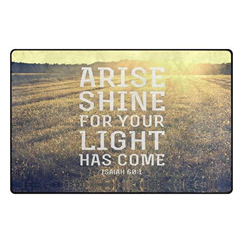 Jocper Bibel Zitate Verse entstehen Glanz für Ihr Licht ist gekommen23.6 x15.7 Rutschfeste Fußmatten Küche Home Decor (Bibel-kassette)
