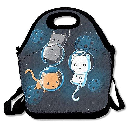 kkwodwcx espacio gatos con aislamiento bolsa para el almuerzo Bolsas de picnic Gourmet bolsas de almuerzo reutilizables para trabajo de la escuela–mejor bolsa de viaje