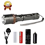 Rechargeable LED Torch, Zotoyi Tactical...