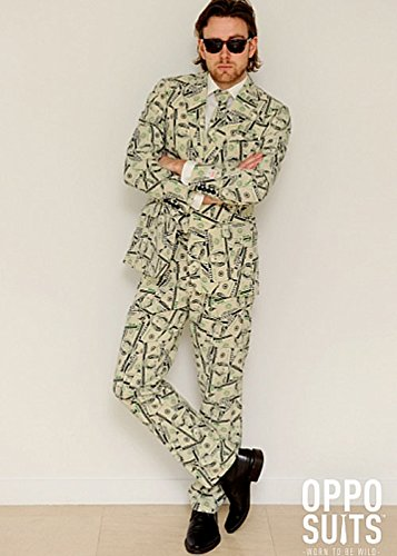 Adulti Mens soldi Pattern Oppo Suit Costume Small/Medium (EU48 UK38)