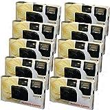 10 x PHOTO PORST appareils photo jetables crème pour 27 photos avec flash