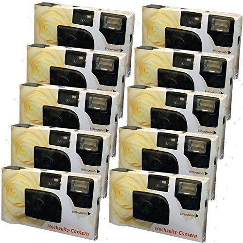 10 x PHOTO PORST appareils photo jetables crème pour 27 photos avec flash