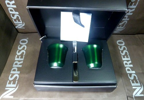 Nespresso Pixie Espresso Capriccio Metall Becher Tasse - dunkelgrün
