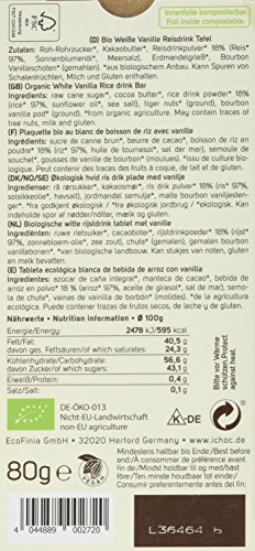 Vivani White Vanilla-Rice Choc, 5er Pack (5 x 80 g) - 5