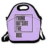 Tuja Think out Side la scatola esterna impermeabile viaggio picnic per donne, adulti, bambini, ragazze, e dei ragazzi, Black, taglia unica