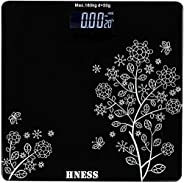 HNESS Electronic Thick Tempered Glass & LCD Display Electronic Digital Personal Bathroom Health Body, Home