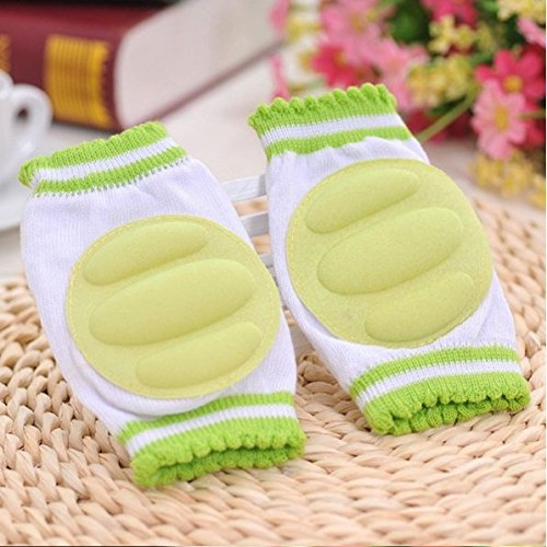 JERN Baby Safety Cotton Crawling Cushion Kids Elbow Knee Pad Protector (Green )