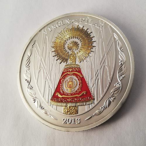 IMPACTO COLECCIONABLES Medalla de la Virgen del Pilar. Ornamentada en Oro