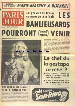 NOUVELLE REPUBLIQUE (LA) [No 7053] du 25/11/1967 - CHYPRE / ANKARA ET ATHENES ACCEPTENT LA MEDIATION DE MANLIO BROSIO -4 ANS DE PRISON AU CHANTEUR JEAN ROLLAND -LE DOSSIER ISRAEL PAR BOTROT -LE CENTRE SILENCIEUX PAR VAN HUAN -LE PROCES DE POUCHES -LA MORT DE L'ADJUDANT RENE HENNEBICQ / CHAMPION DU MONDE DE PARACHUTISME -AU PROCES DU DR VERCIER -LES SPORTS -LES PRISONNIERS POLITIQUES FONT LA GREVE DE LA FAIM SUR L'ILE DE