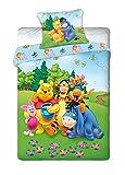 Maxi&Mini - WINNIE L'OURSON LINGE DE LIT PARURE HOUSSE DE COUETTE 160x200 + TAIE 70x80 DÉCO CHAMBRE ENFANT - (02i)