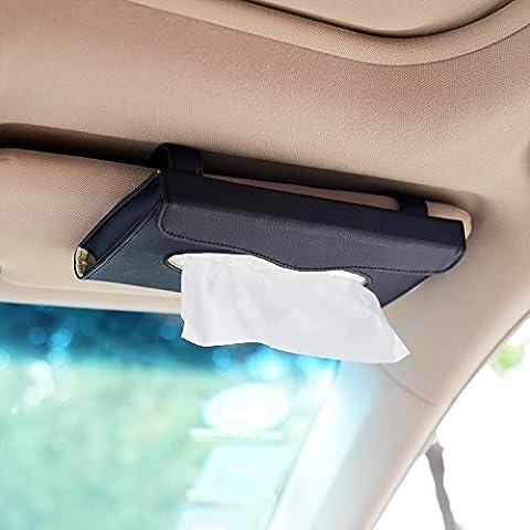 Corux Pochette de rangement en cuir PU pour pare-soleil et arrière de siège de voiture